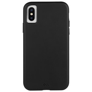 Case-Mate Barely There Leather Case for iPhone X  /  Xs, Black