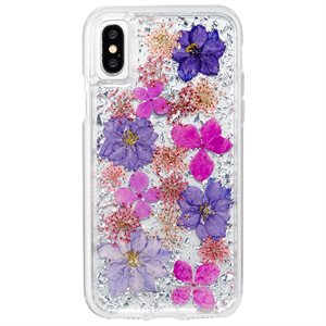 Case-Mate Karat Petals Case for iPhone X, Purple