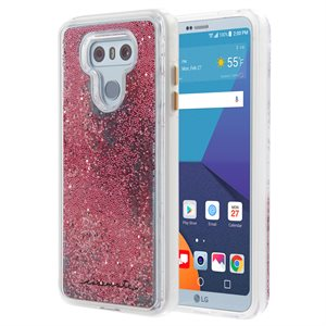 Case-Mate Waterfall Case for LG G6, Rose Gold