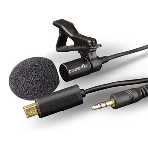 Digipower GoPro Hero 2 / 3 / 4 Lavalier Professional Microphone