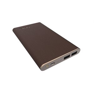 Energizer Powerbank 10000mAh MicroUSB to USB Brown Leather