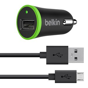 Belkin 2.1 A Car Charger 6' USB A to C Cable