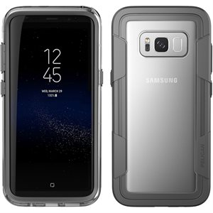 Pelican Voyager Case for Samsung Galaxy S8 Plus, Clear / Grey